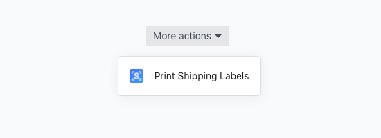 Shopify - Print Shipping Labels Button