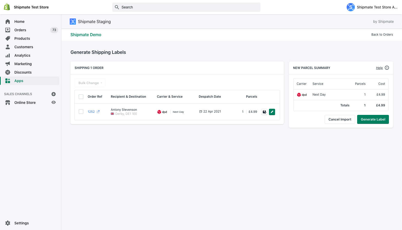 Shopify - Import Orders